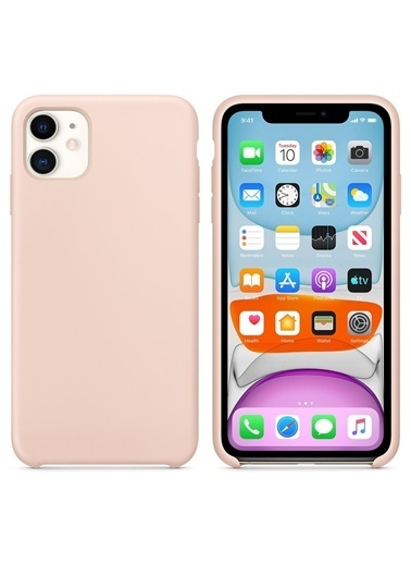 Bludfire Apple iPhone 11 (6.1'') Kılıf Liquid Lansman Silikon Kum Pembesi Pudra